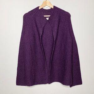 BODEN plum chunky knit cardigan wool alpaca blend